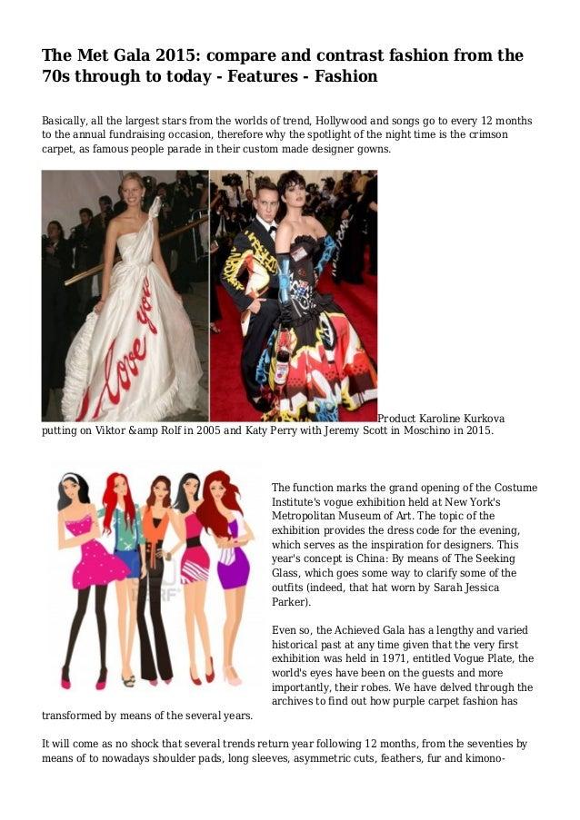fashion compare and contrast