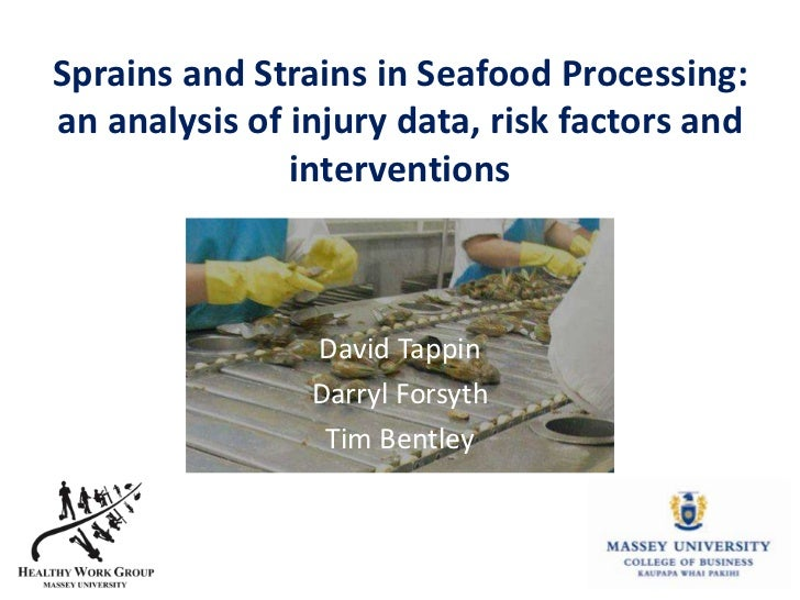 Sprains and Strains in Seafood Processing:an analysis of injury data, risk factors and               interventions        ...