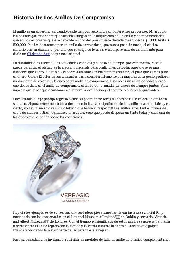 Historia De Los Anillos De Compromiso El anillo es un accesorio empleado desde tiempos reconditos con diferentes proposito...