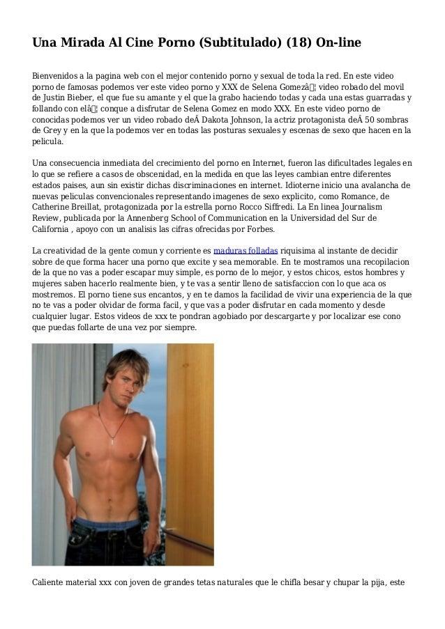 Una Mirada Al Cine Porno (Subtitulado) (18) On-line Bienvenidos a la pagina web con el mejor contenido porno y sexual de t...