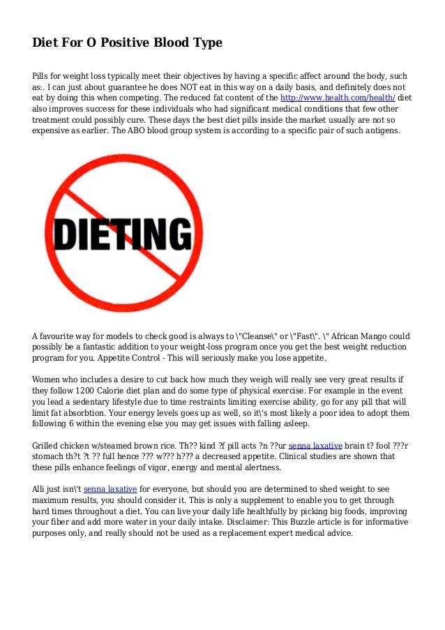 blood type o diet plan pdf