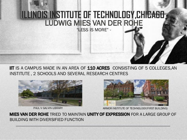 illinois institute of technology chicago ludwig mies van der rohe. Black Bedroom Furniture Sets. Home Design Ideas