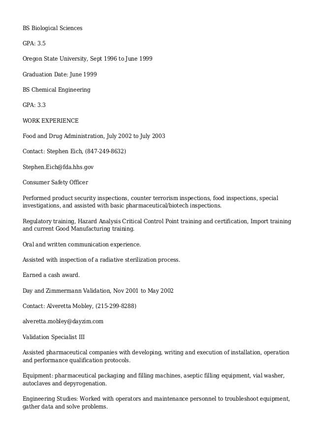 detailed professional resume for chris harding chemical engineer bio