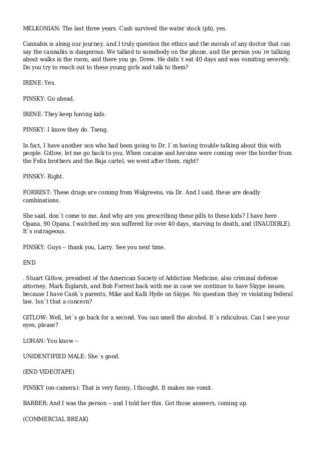 Cnncom Transcripts   Lobster House