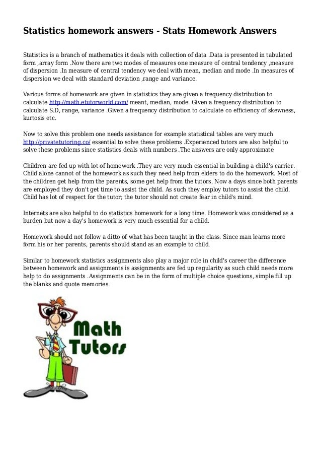 Stats On Homework