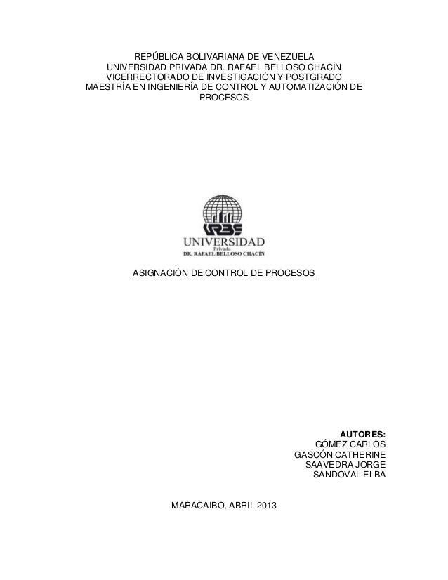 REPÚBLICA BOLIVARIANA DE VENEZUELA UNIVERSIDAD PRIVADA DR. RAFAEL BELLOSO CHACÍN VICERRECTORADO DE INVESTIGACIÓN Y POSTGRA...