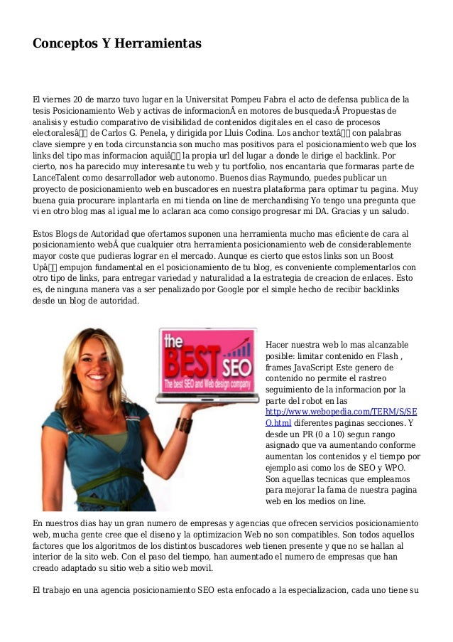 Conceptos Y Herramientas El viernes 20 de marzo tuvo lugar en la Universitat Pompeu Fabra el acto de defensa publica de la...