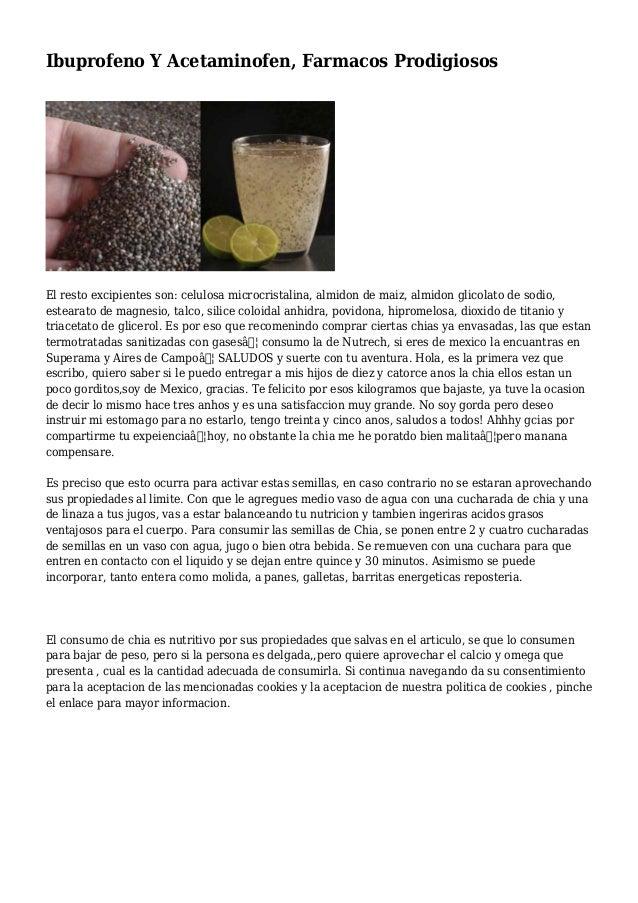 Ibuprofeno Y Acetaminofen, Farmacos Prodigiosos