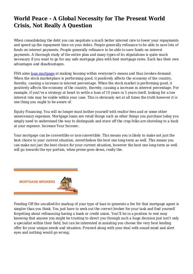 World peace essay introduction