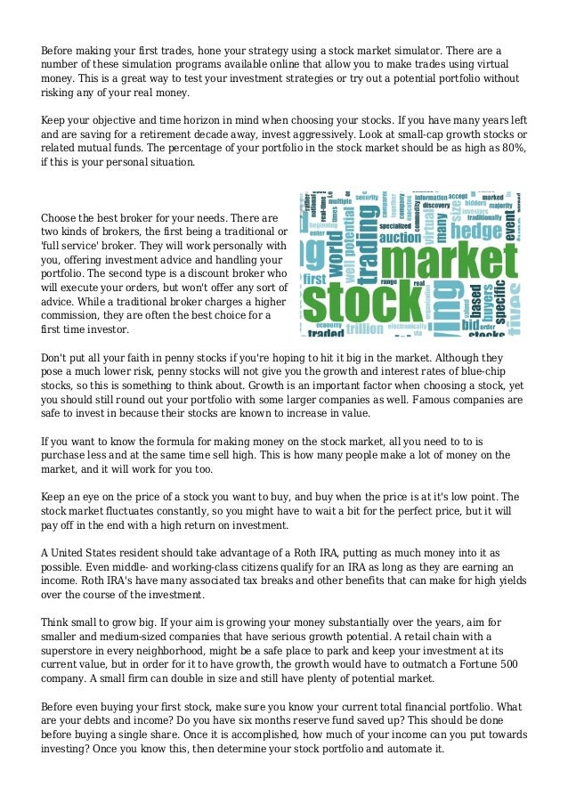 How to read when buying a stock .?