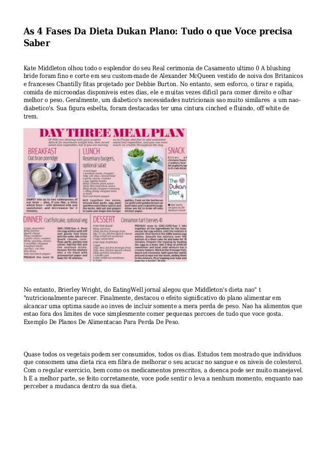 As 4 Fases Da Dieta Dukan Plano: Tudo o que Voce precisa Saber Kate Middleton olhou todo o esplendor do seu Real cerimonia...