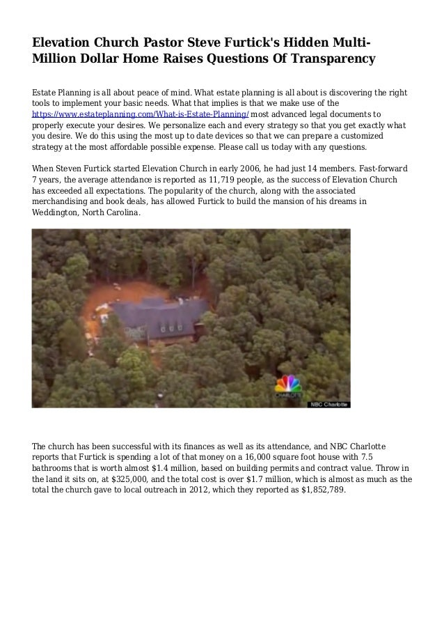Elevation Church Plan A Visit : Elevation church pastor steve furtick s hidden multi
