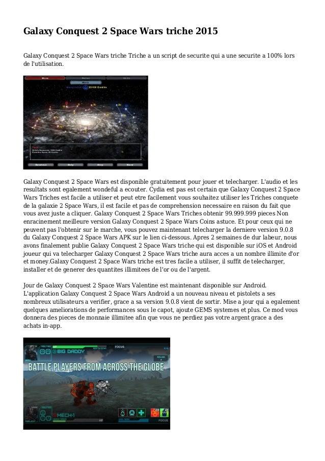 Galaxy Conquest 2 Space Wars triche 2015 Galaxy Conquest 2 Space Wars triche Triche a un script de securite qui a une secu...