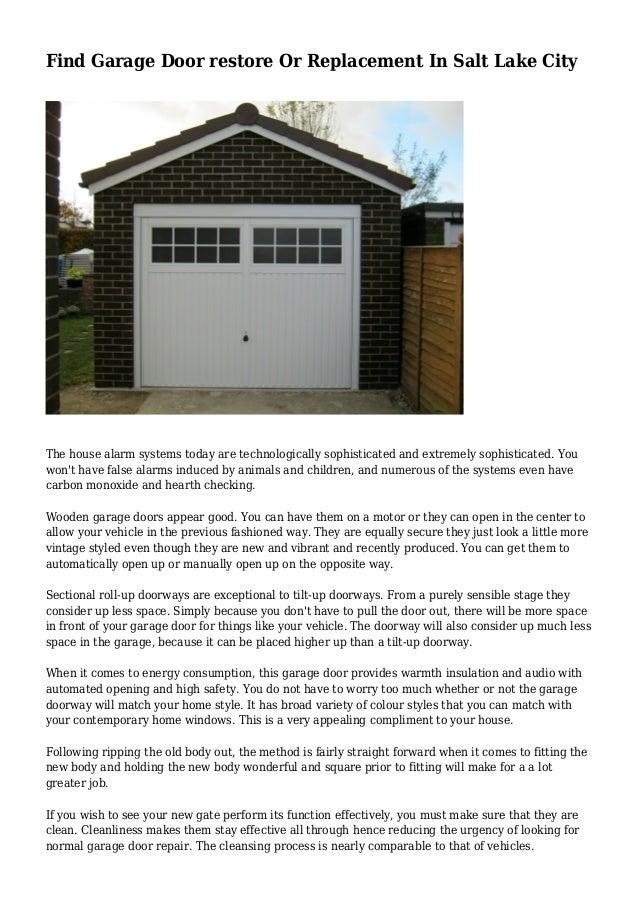 Find garage door restore or replacement in salt lake city for Garage door repair salt lake city