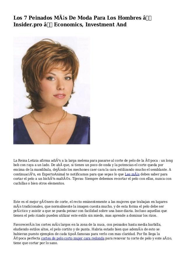 Los 7 Peinados Más De Moda Para Los Hombres — Insider.pro — Economics, Investment And La Reina Letizia afirma adiós ...
