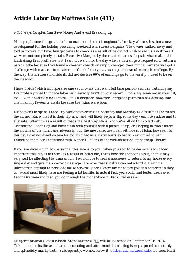 article labor day mattress sale 411. Black Bedroom Furniture Sets. Home Design Ideas