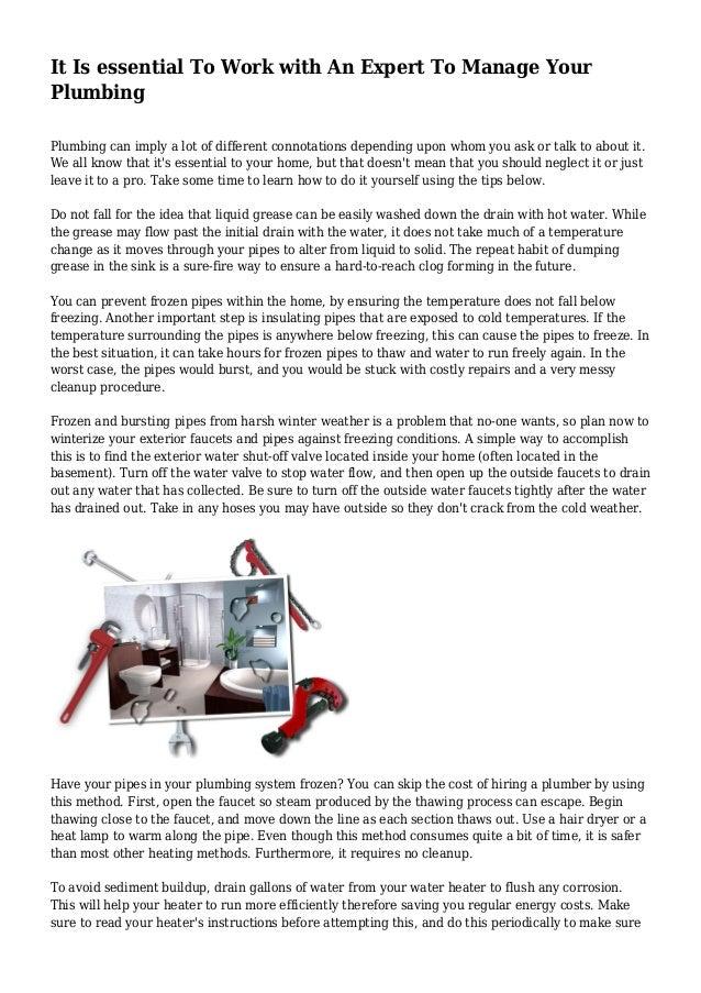 how to make money in plumbing
