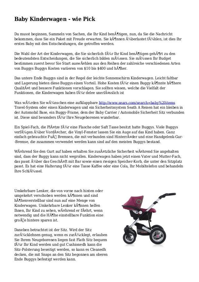 Baby Kinderwagen - wie Pick Du musst beginnen, Sammeln von Sachen, die Ihr Kind benötigen, nun, da Sie die Nachricht beko...