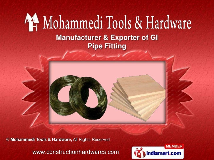 Manufacturer & Exporter of GI        Pipe Fitting