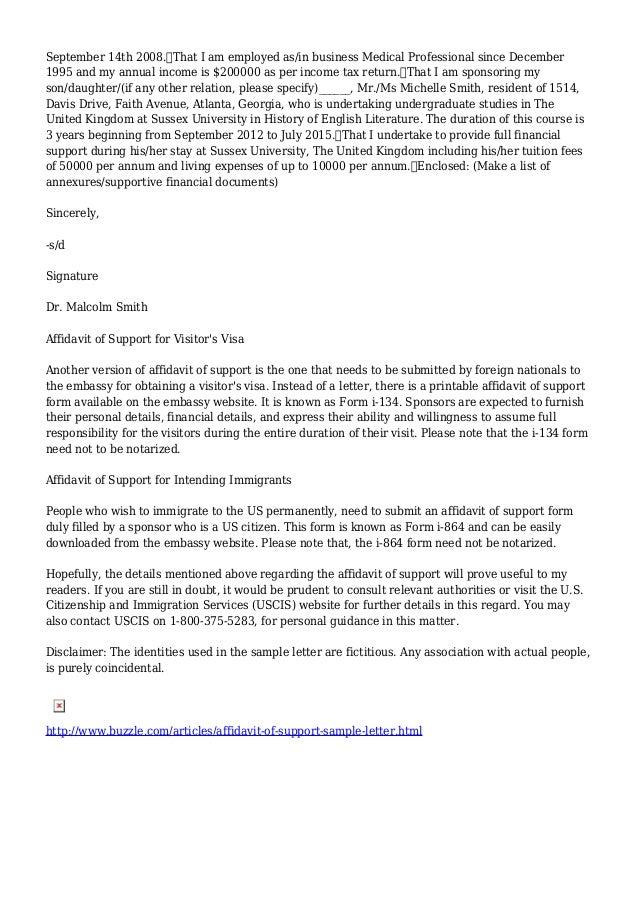 Sample Financial Support Letter For Student Visa Australia. Tags ...