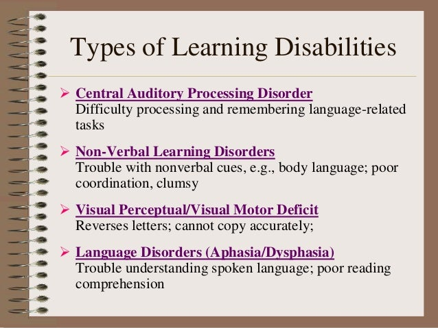 Learning disability for Visual motor processing disorder