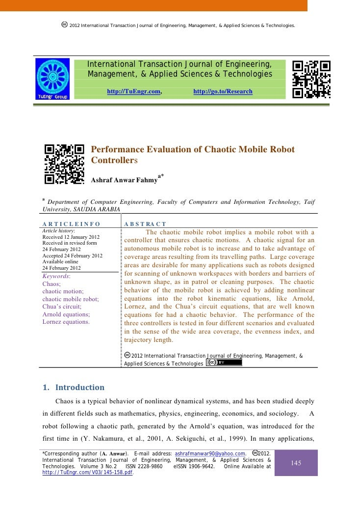 Performance Evaluation of Chaotic Mobile Robot Controllers