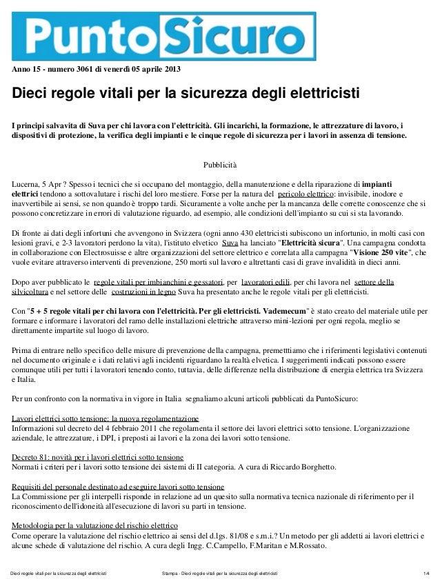 145   dieci regole viotali per gli elettricisti
