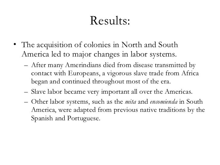 Changes and Continuities in latin america 1450-1750?