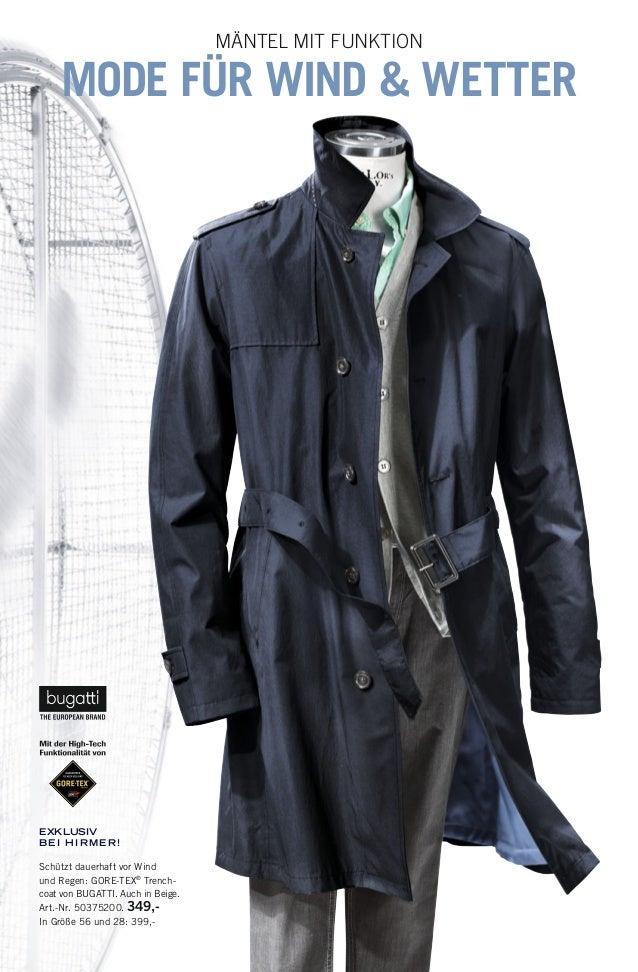 EXKLUSIV BEI HIRMER ! Schützt dauerhaft vor Wind und Regen: GORE-TEX® Trench- coat von BUGATTI. Auch in Beige. Art.-Nr. 50...