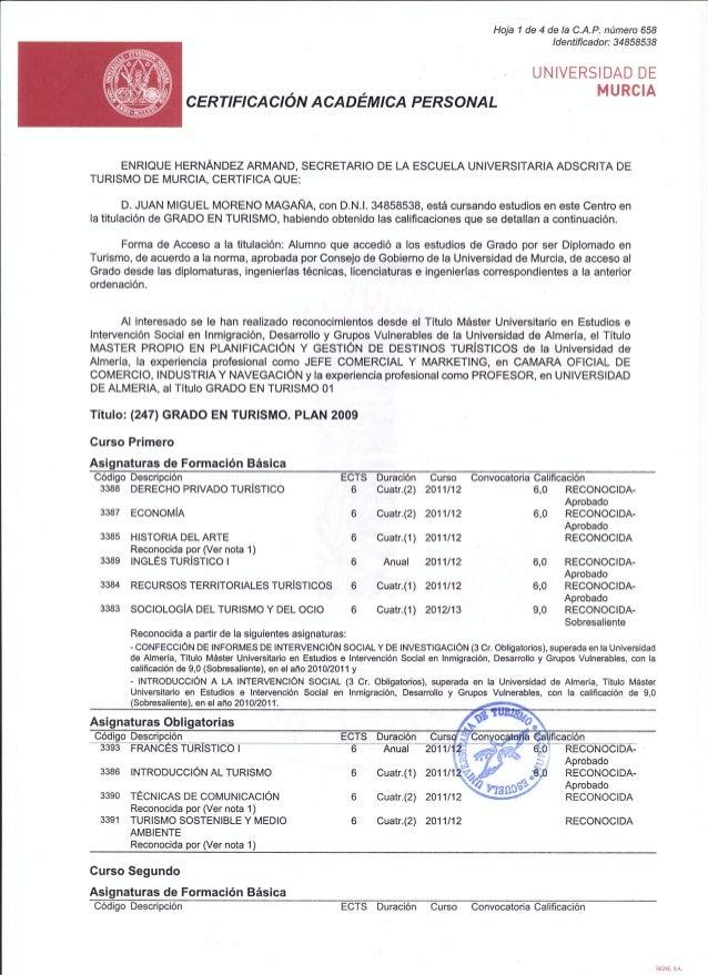 145 grado superior escuela turismo murcia Juan Miguel Moreno