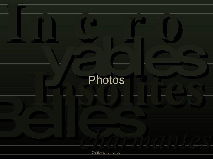 INCRO Insolites YABLES Photos Belles charmantes Défilement manuel
