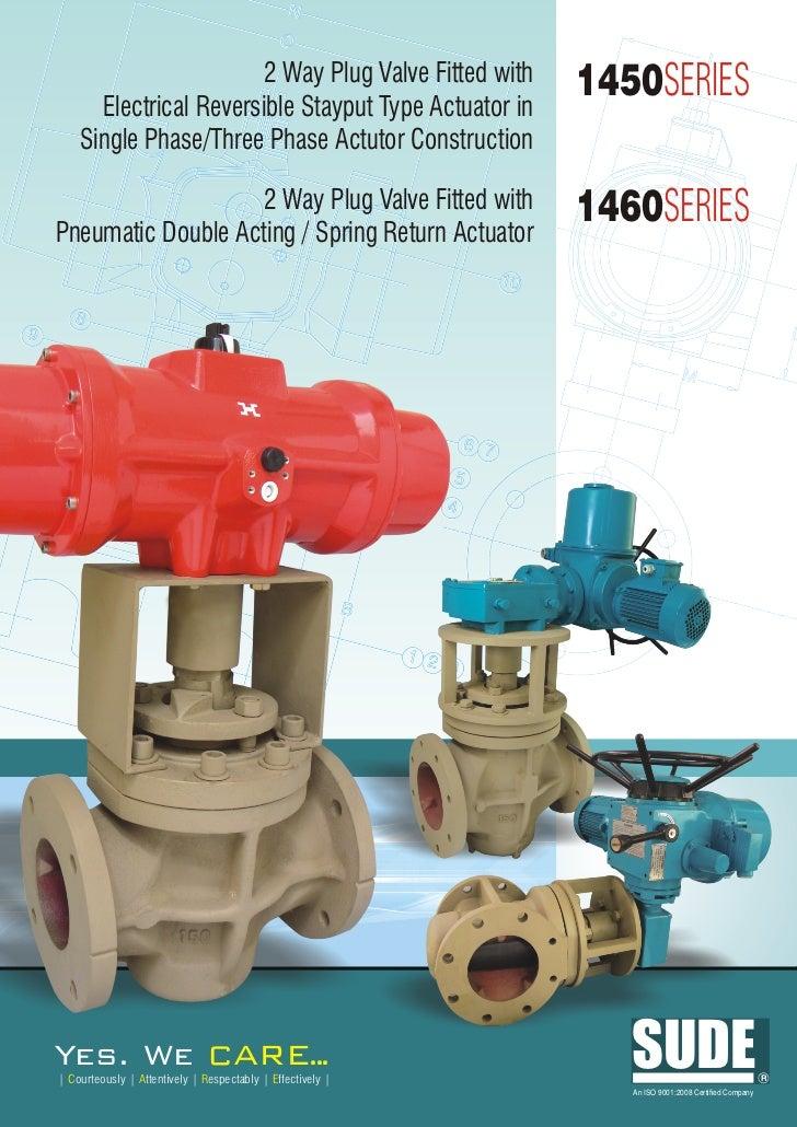 1460 1450 plug valve with pneu & elect actuator