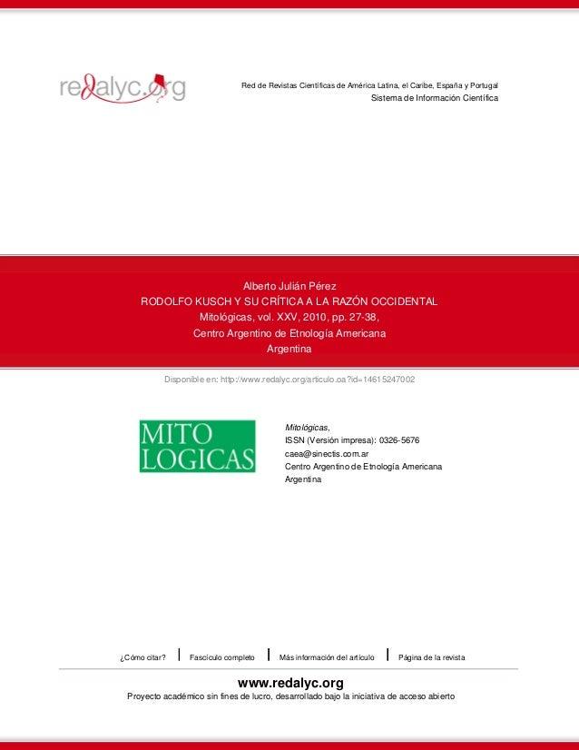 Red de Revistas Científicas de América Latina, el Caribe, España y Portugal  Sistema de Información Científica  Alberto Ju...