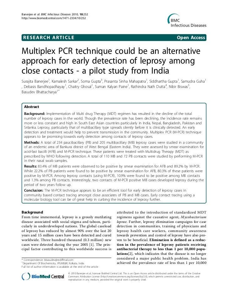 Banerjee et al. BMC Infectious Diseases 2010, 10:252http://www.biomedcentral.com/1471-2334/10/252 RESEARCH ARTICLE        ...