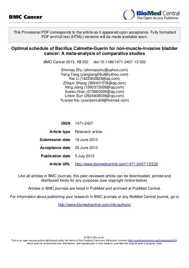 Optimal schedule of Bacillus Calmette-Guerin for non-muscle-invasive bladder cancer: A meta-analysis of comparative studies