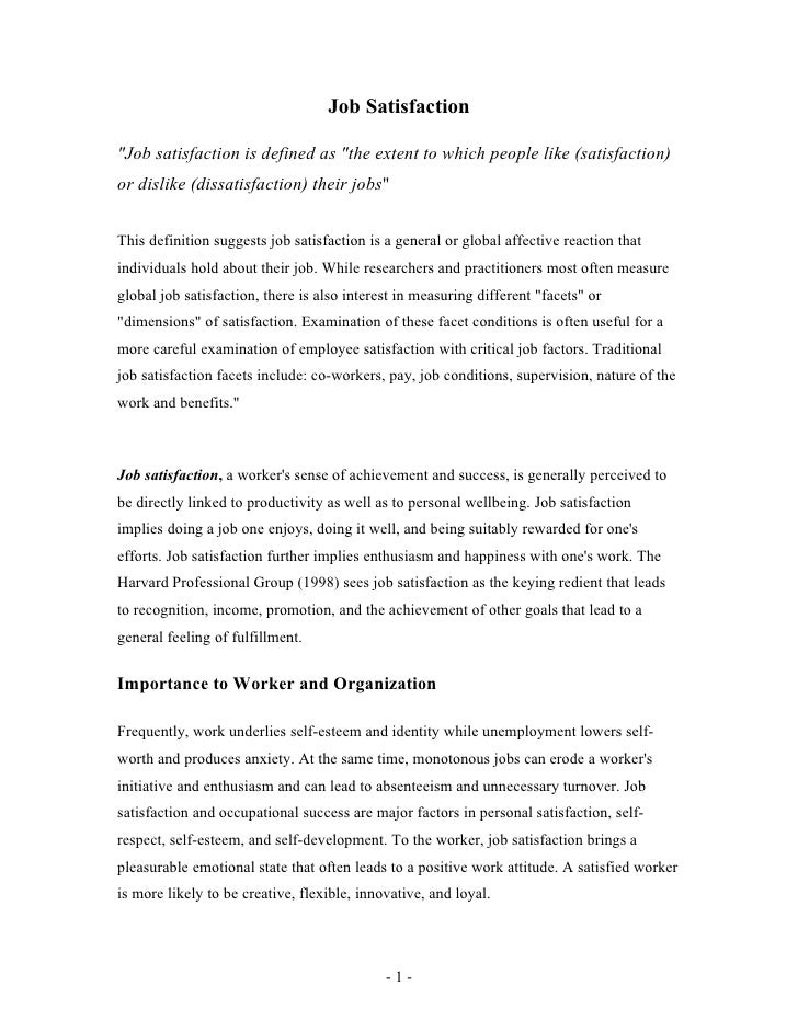 essay on job satisfaction gotong royong in english essay gotong royong in english essay job satisfaction