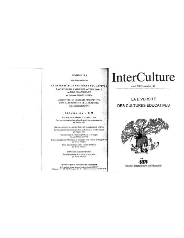 148 la diversité des cultures éducatives. g. rengifo-vasquez, l. emongo. (document à télécharger en format pdf, 3,3 m...