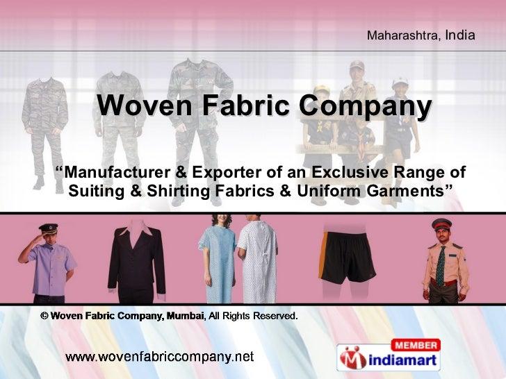 Woven Fabric Company  Maharashtra  india