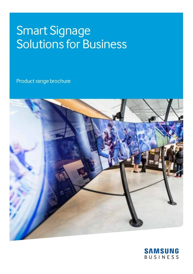 Smart Signage Solutions for Business Product range brochure