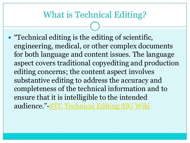 Technical Editing for Beginners Final