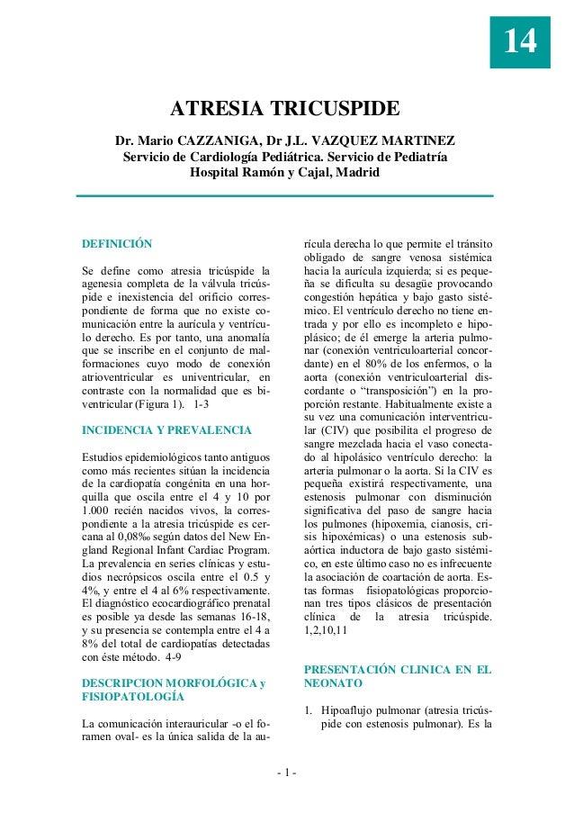 14                   ATRESIA TRICUSPIDE       Dr. Mario CAZZANIGA, Dr J.L. VAZQUEZ MARTINEZ        Servicio de Cardiología...