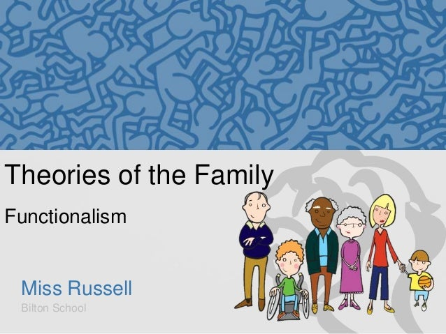 Theories of the Family Functionalism  Miss Russell Bilton School