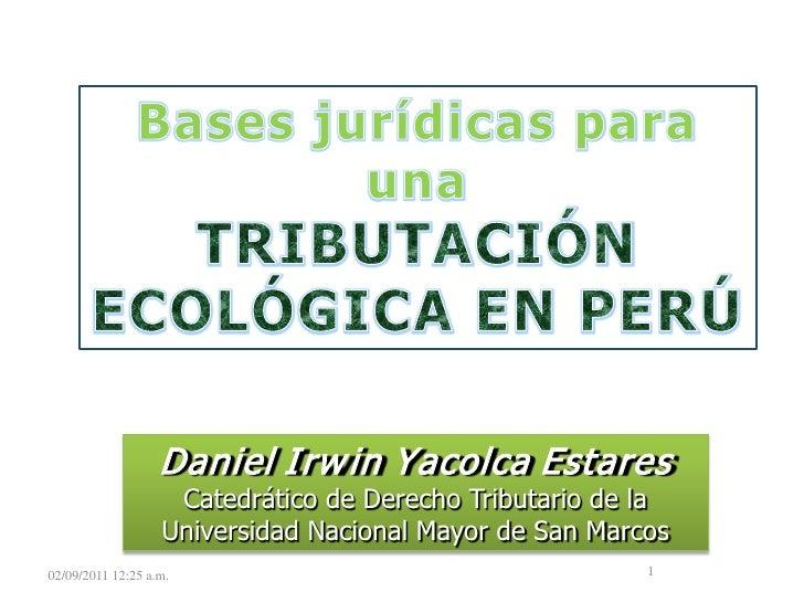14 - Bases para una tributación ecologica en Perú