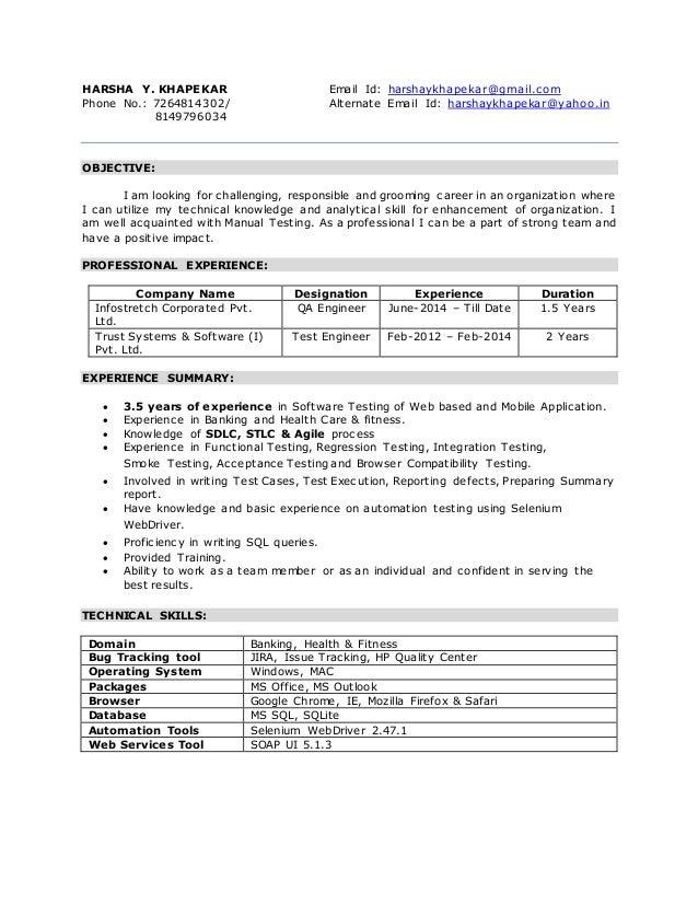 Resume on kbc