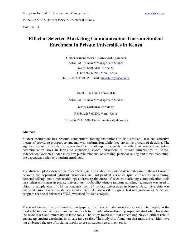 14 bernard effect of selected marketing 172-205