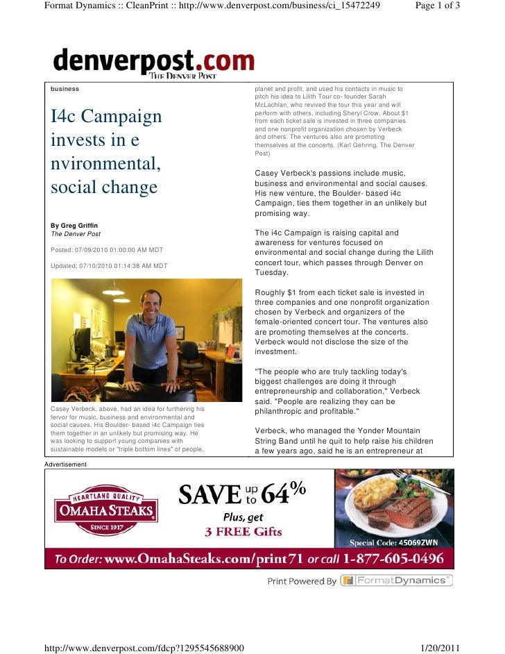 14c Campaign Invests in Change