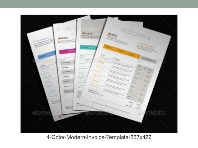 14 contoh invoice desain modern