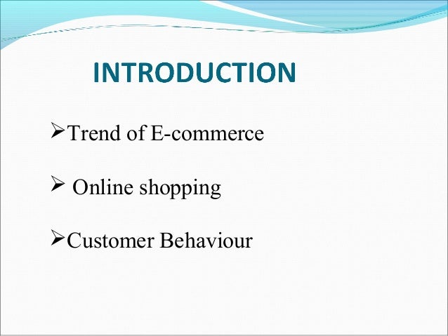 Research paper about e commerce