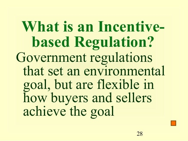 Free market approaches to environmental regulations?