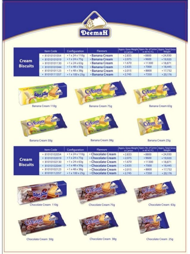 BISCUITS - DEEMAH PRODUCT CATALOG